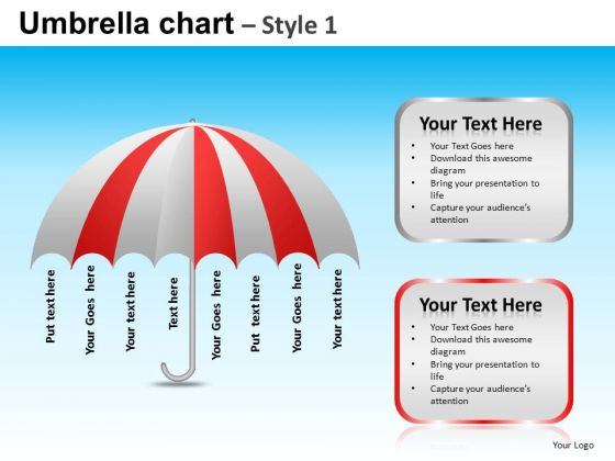 PowerPoint Slides Business Leadership Targets Umbrella Chart Ppt Design