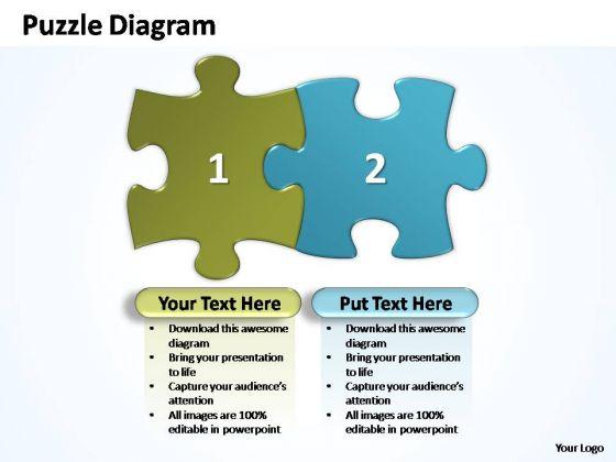 PowerPoint Slides Business Puzzle Piece Ppt Template