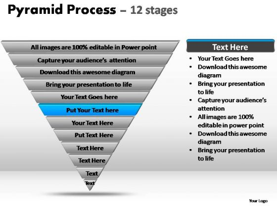 PowerPoint Slides Business Pyramid Process Ppt Template
