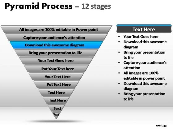 PowerPoint Slides Business Pyramid Process Ppt Theme