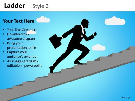 PowerPoint Slides Business Success Ladder Ppt Templates