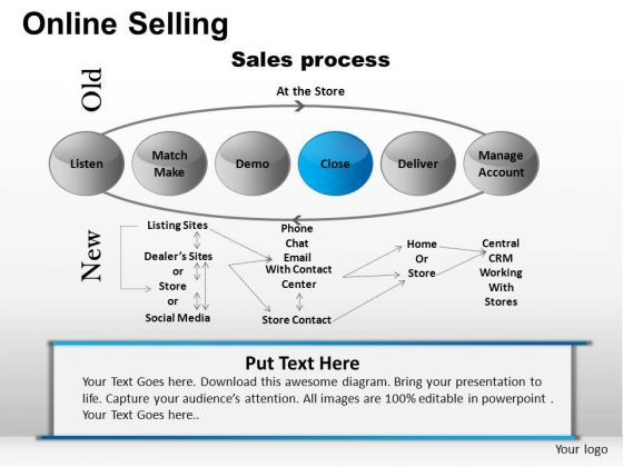 PowerPoint Slides Business Sucess Online Selling Ppt Templates