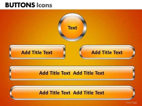 PowerPoint Slides Business Teamwork Buttons Icons Ppt Theme