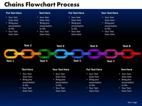PowerPoint Slides Chains Flowchart Process Leadership Ppt Design Slides