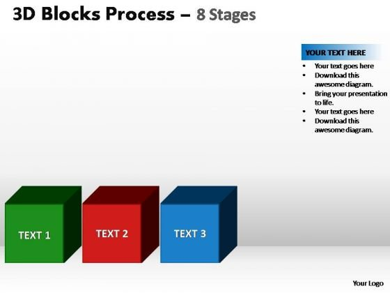 PowerPoint Slides Chart Blocks Process Ppt Backgrounds