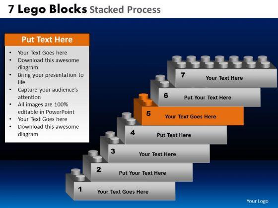 PowerPoint Slides Chart Lego Blocks Ppt Theme