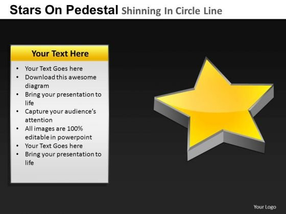 PowerPoint Slides Chart Pedestal Shinning Ppt Theme