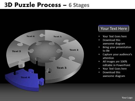 PowerPoint Slides Chart Pie Chart Puzzle Process Ppt Presentation Designs