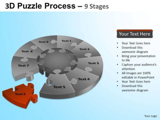 PowerPoint Slides Chart Puzzle Segment Pie Chart Ppt Presentation Designs