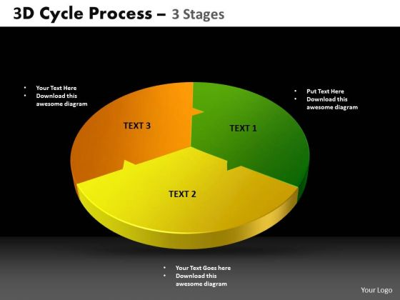 PowerPoint Slides Circle Chart Cycle Process Ppt Process