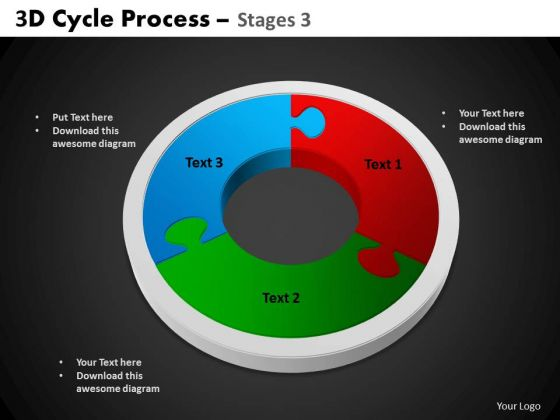 PowerPoint Slides Circle Chart Cycle Process Ppt Template