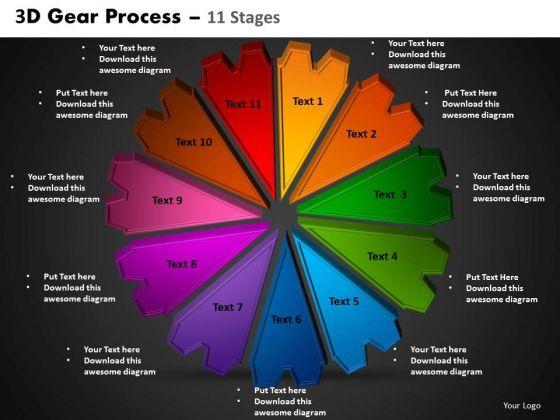 PowerPoint Slides Circular Process Gear Process Ppt Slides