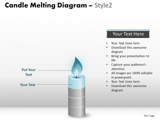 PowerPoint Slides Company Candle Melting Ppt Themes