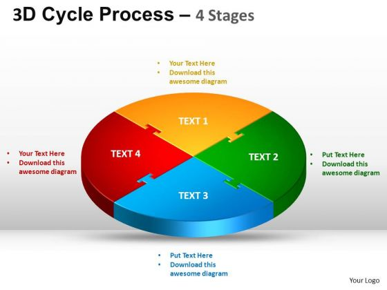 PowerPoint Slides Company Cycle Process Flow Ppt Template