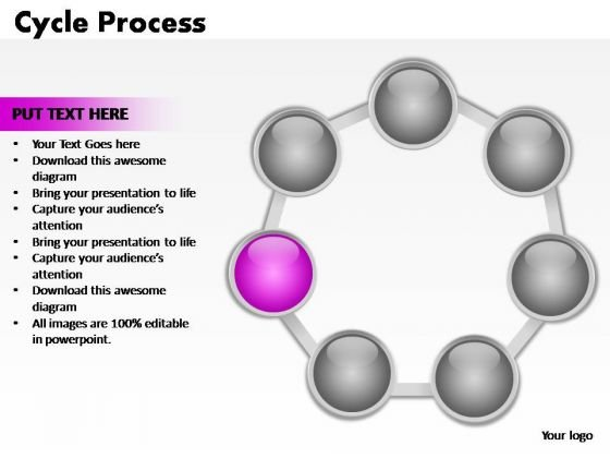 PowerPoint Slides Company Cycle Process Ppt Design