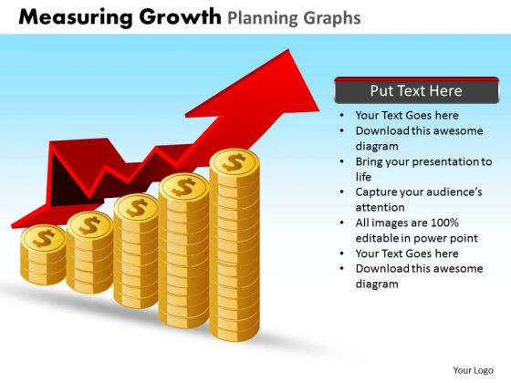 PowerPoint Slides Company Measuring Growth Ppt Design