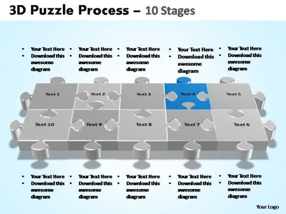 PowerPoint Slides Company Puzzle Process Ppt Presentation