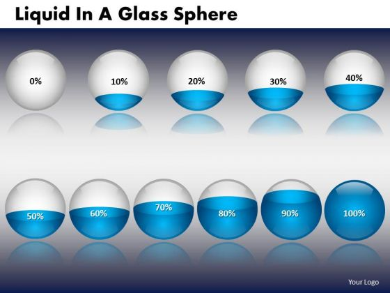 PowerPoint Slides Company Strategy Liquid In A Glass Sphere Ppt Presentation