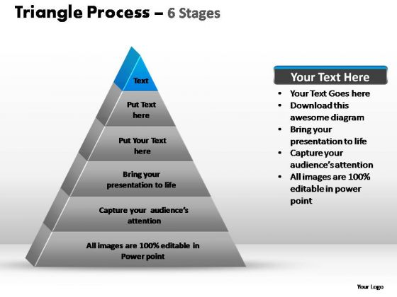 PowerPoint Slides Company Triangle Process Ppt Backgrounds