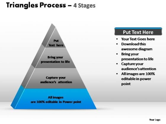 PowerPoint Slides Company Triangle Process Ppt Template