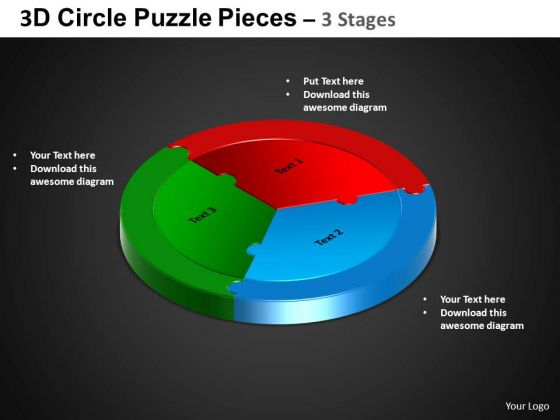 PowerPoint Slides Cycle Chart Circle Puzzle Diagram Ppt Template