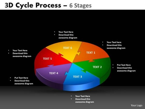 PowerPoint Slides Cycle Chart Cycle Process Ppt Slide