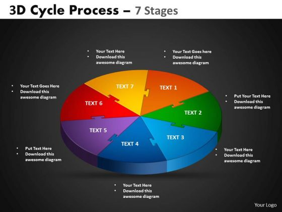 PowerPoint Slides Cycle Chart Cycle Process Ppt Template