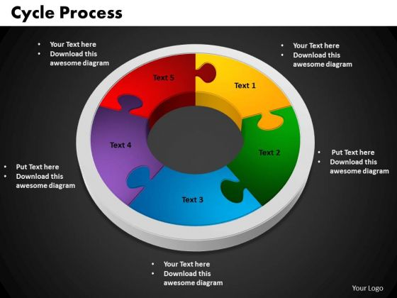 PowerPoint Slides Cycle Process Chart Ppt Template