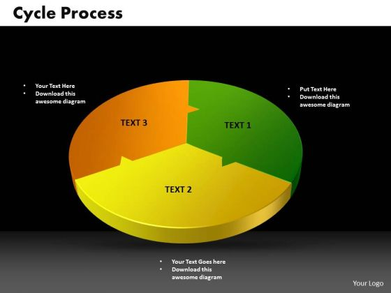 PowerPoint Slides Cycle Process Success Ppt Backgrounds