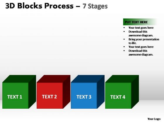 PowerPoint Slides Diagram Blocks Process Ppt Slides