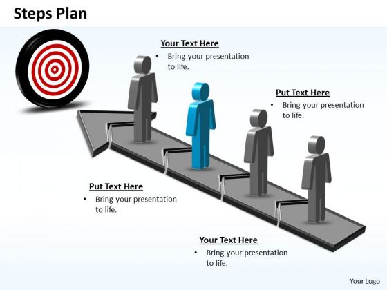PowerPoint Slides Download Steps Plan 4 Stages Style 6 Ppt Template