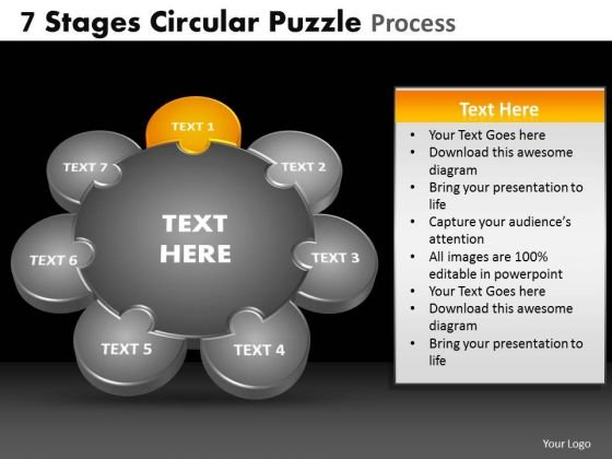 PowerPoint Slides Editable Circular Puzzle Ppt Theme
