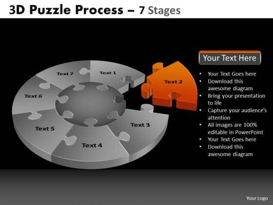 PowerPoint Slides Editable Pie Chart Puzzle Process Ppt Design