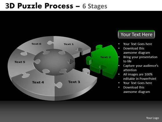 PowerPoint Slides Education Pie Chart Puzzle Process Ppt Slide Designs