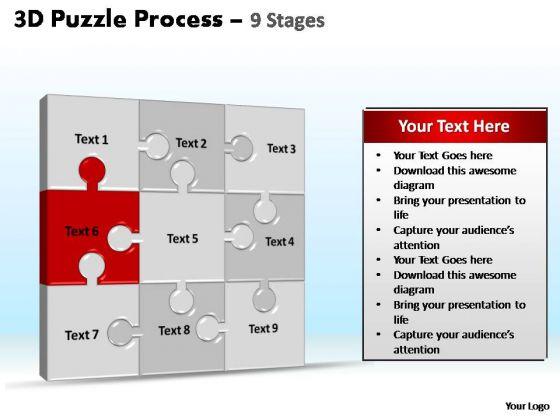 PowerPoint Slides Education Puzzle Process Ppt Slide Designs