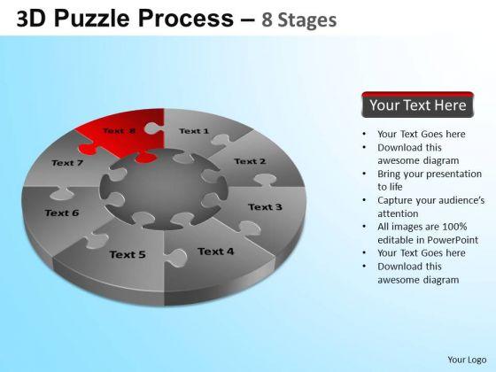 PowerPoint Slides Education Puzzle Segment Pie Chart Ppt Presentation Designs