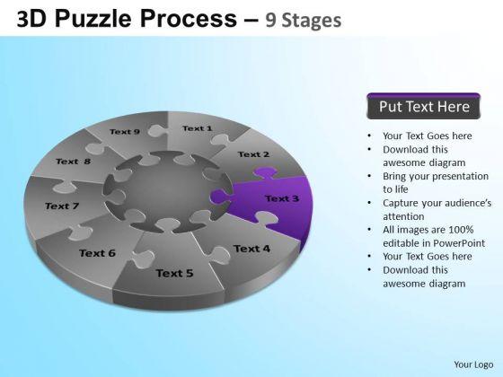 PowerPoint Slides Education Puzzle Segment Pie Chart Ppt Slide Designs