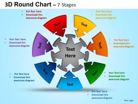 PowerPoint Slides Education Round Process Flow Chart Ppt Design