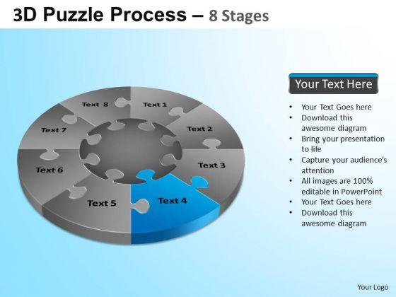PowerPoint Slides Executive Competition Puzzle Segment Pie Chart Ppt Slide