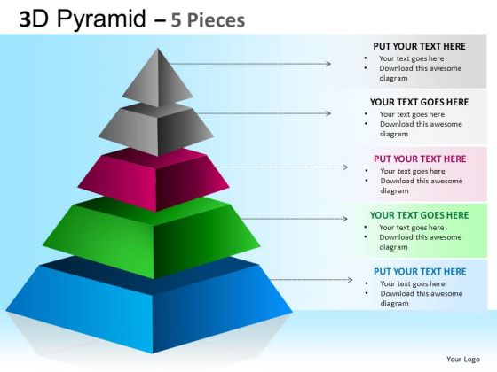 PowerPoint Slides Executive Strategy Pyramid Ppt Process