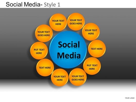 PowerPoint Slides Executive Strategy Social Media Ppt Design