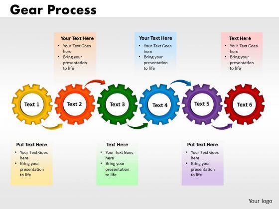 PowerPoint Slides Gears Process Business Ppt Presentation Designs