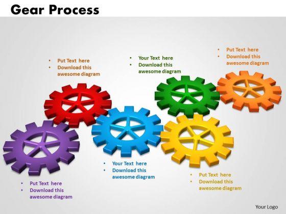 PowerPoint Slides Gears Process Business Ppt Slides