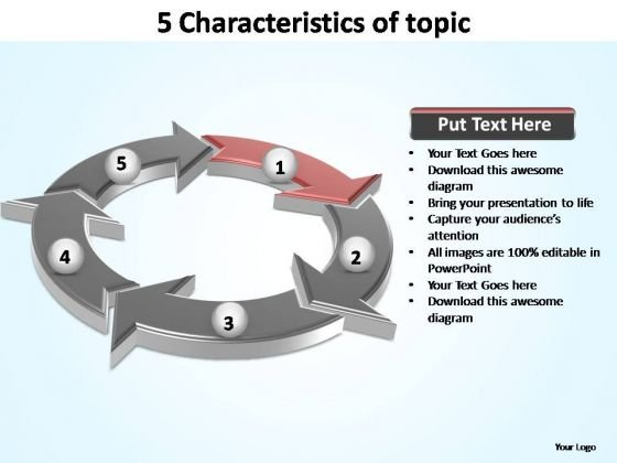 PowerPoint Slides Graphic Characteristics Of Topic Ppt Design