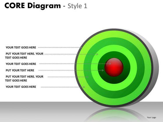 PowerPoint Slides Graphic Core Diagram Ppt Templates