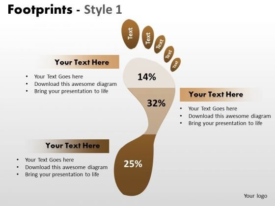 PowerPoint Slides Graphic Footprints Ppt Layout