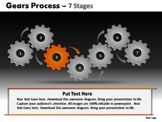 PowerPoint Slides Graphic Gears Process Ppt Template