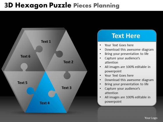 PowerPoint Slides Graphic Hexagon Puzzle Ppt Themes