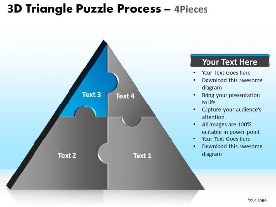 PowerPoint Slides Graphic Triangle Puzzle Ppt Slide
