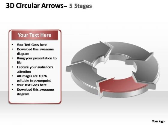 PowerPoint Slides Growth Circular Arrows Ppt Templates